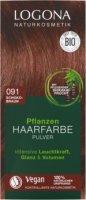 Pflanzen Haarfarbe Pulver 091 schokobraun
